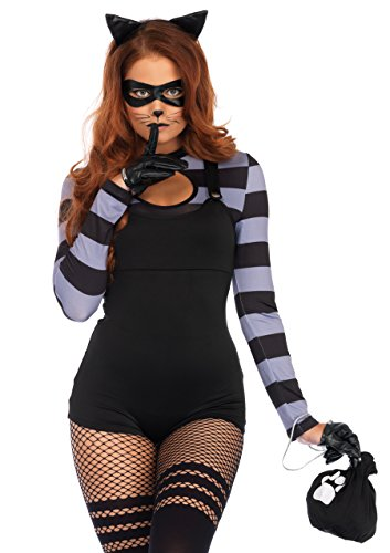 Burglar Kostüm, Schwarz, Medium (EUR 38) (Cat Fancy Dress Kostüme Halloween)