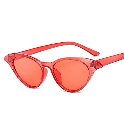 WTACK Weinlese-Rote Schutzbrillen-Neue Katzen-Sonnenbrille Für Frauen-Augen-Glas-Retro Art- Und Weisegelb-Damen-Großes Dreieck