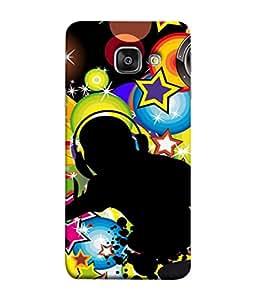 PrintVisa Designer Back Case Cover for Samsung Galaxy A7 (6) 2016 :: Samsung Galaxy A7 2016 Duos :: Samsung Galaxy A7 2016 A710F A710M A710Fd A7100 A710Y :: Samsung Galaxy A7 A710 2016 Edition (Shadow Music Image Color Art Style illustration Card)