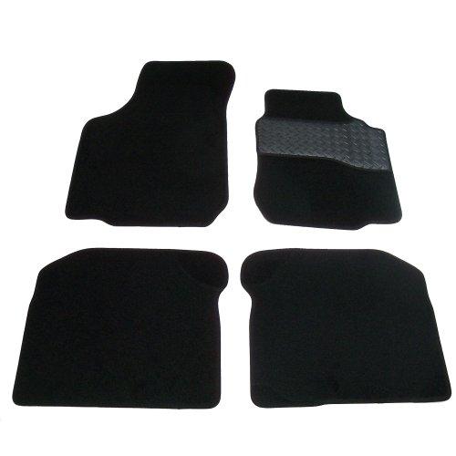 Sakura–Alfombrillas incluye alfombra con goma tobillos para Golf 41997–04, color negro