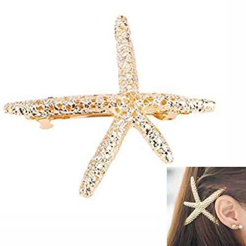 Sun Run elegante fermacapelli in metallo a forma di stella marina speciale per chi ama il...
