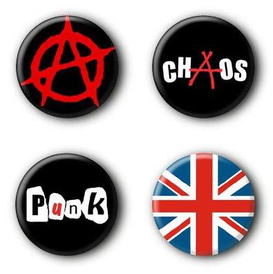 4 Punk Buttons #1 (2,5cm)