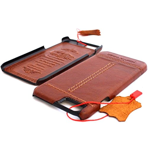 véritable Vintage en cuir véritable fait à la main pour Apple iPhone 3S slim Housse portefeuille 6S fin rétro Il