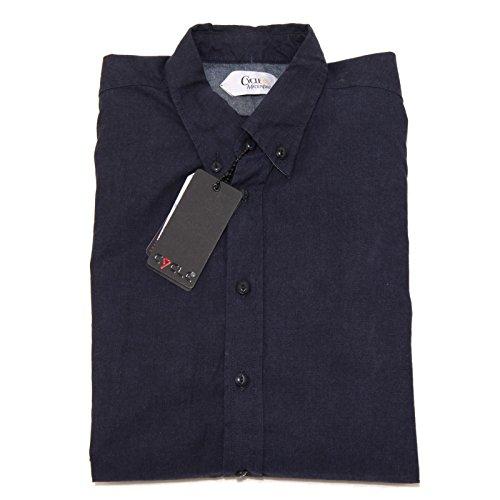 9985F camicia blu CYCLE jeans MANICA LUNGA camicie uomo shirt men [L]