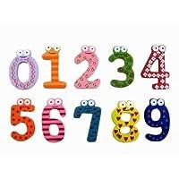 Cartoon Kid Wood Number Fridge Magnet Label