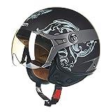 Männer Frauen Moto Motorradhelme Retro Air Force Half Face Motorrad Helm Motocross Kappe M-XL