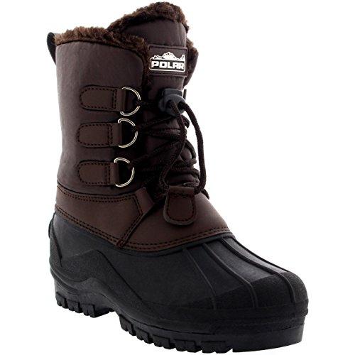 POLAR Unisex Kids Pull On Drawstring Closure Nylon Muck Duck Snow Rain Boots