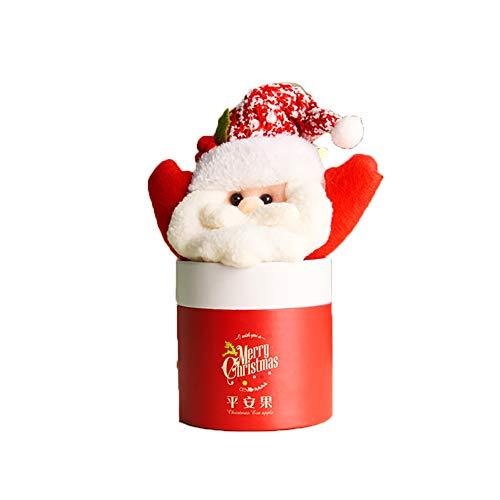 Ouken 1pc Christmas Candy Jar Elk dekorieren Kinder-Süßigkeiten-Flasche Heiligabend apfelbox für Xmas Party Geschenk Dekor (Weihnachtsmann)