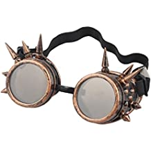 Bluester Rivet Steampunk Windproof Mirror Vintage Gothic Lenses Goggles Glasses
