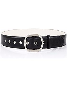 Simple cinturón mujer vestido hebilla cinturón ancho de decoración