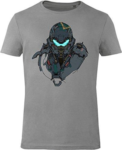 GOZOO Halo T-Shirt Herren Agent Locke 100% Baumwolle Grau 3XL (3-masterchief Halo)