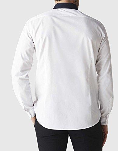 Celio Herren Businesshemd Dacontrast Weiß - weiß