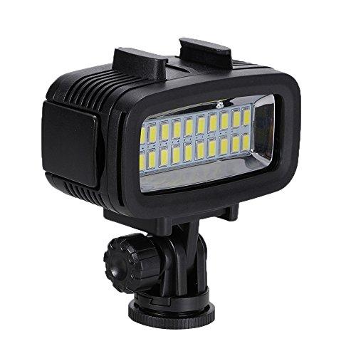 Preisvergleich Produktbild Unterwasserlampen Kameras Unterwasser 40M Foxpic Wasserdicht LED Tauchens Videoleuchte Licht 60 LEDs 700LM 1900mAh