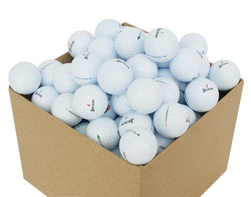 Second Chance Srixon 100 Balles de golf Récupération Qualité supérieure Grade A XX-L Noir/Blanc