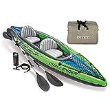 Festnight Kayak Gonflable Plancher Gonflable pour Piscine ou Lac 351 x 76 x 38 cm Poids Max 180 KG