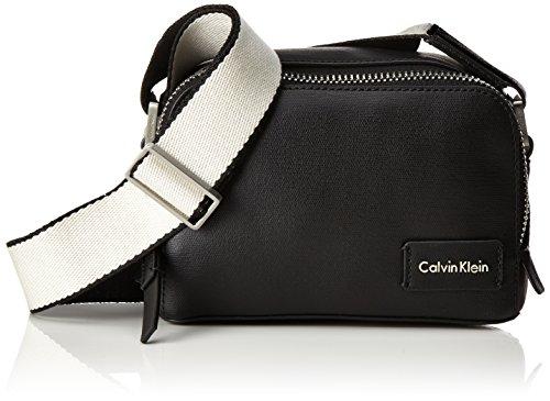 Calvin Klein Damen Urban Small Crossbody Umhängetasche, 8 x 12 x 19 cm, Schwarz (Black/001) (Bag Schwarz Boston)