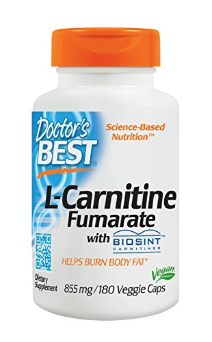 Doctor's Best, Best L-Carnitine Fumarate, 855 mg, 180 Veggie Caps