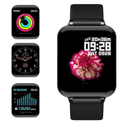 jpantech Smartwatch Donna Uomo Orologio Fitness Impermeabile IP68 GPS Intelligente Pressione Sanguigna Cardiofrequenzimetro per...