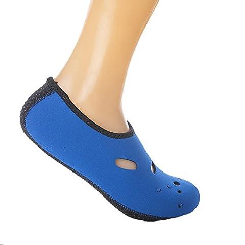 Vertvie Homme/Femme Unisex Été Chaussures de plage Sport Chausson de Surf Aquatique Bain pour Nager Respirant Antidérapant (XL(fit:40-43),