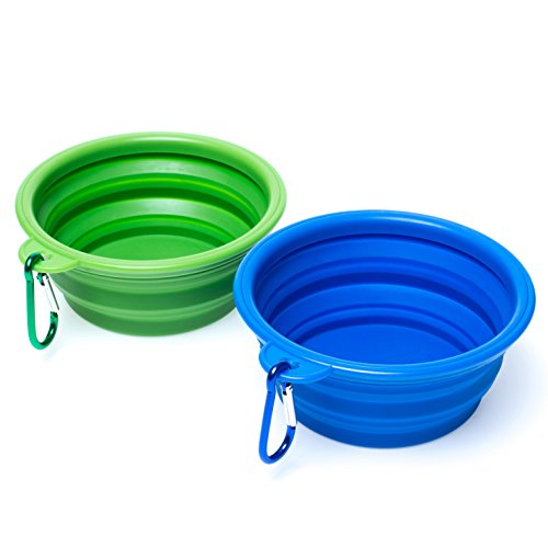WoofWoof Collapsible Travel Dog Bowl, Portable Pet Cat Food Water Feeding Bowl