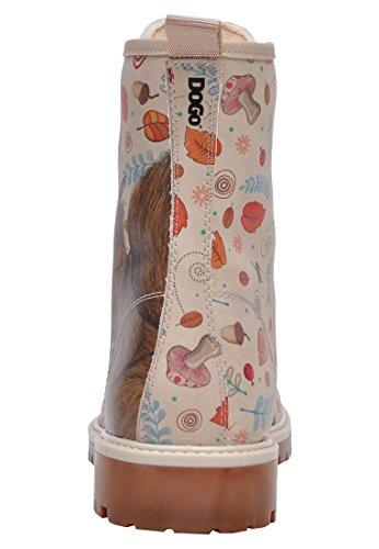 Dogo Squirrel, Damen Stiefel & Stiefeletten , beige - beige - Größe: EU 38 - 2