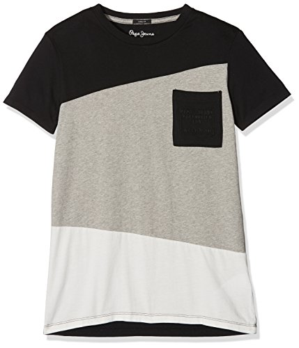 Pepe Jeans Jungen T-Shirt Jerry Teen, Grau (Grey), X-Small