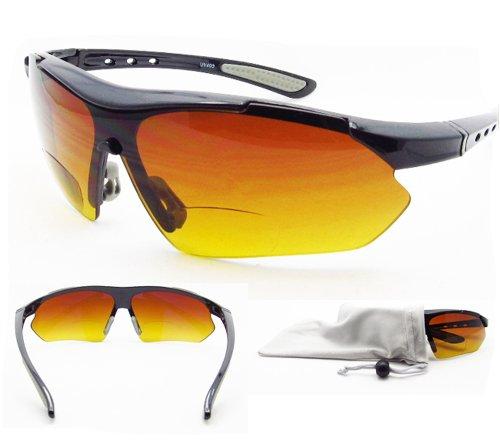 Unbekannt Unknown Bifocal Sun Reader Sonnenbrillen 1.0 für Motorrad-Reiten, Golf, Radfahren, Fahren und All Sports Activites. High Definition HD-Gradient-Objektive. Asian Fit.