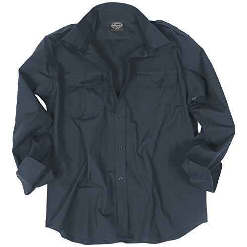 Mil-tec ripstop camicia manica lunga navy blu taglia l