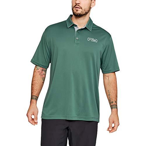 Under Armour, Fish Tech Polo-Shirts, Uomo, 1321578, Charcoal, XXXL