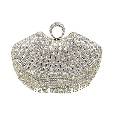 Frauen Diamanten Quaste Kupplung/Formale/Event/Party/Hochzeit Abend Tasche / Geldbeutel / Handtaschen/Eveningbags/Glas/Stein/Quaste Black