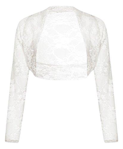 Comfiestyle - Boléro - Manches Longues - Femme taille unique Blanc