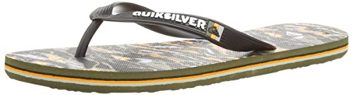 Quiksilver - Molokai Art, Infradito per bambini e ragazzi, multicolore (black/orange/grey), 44