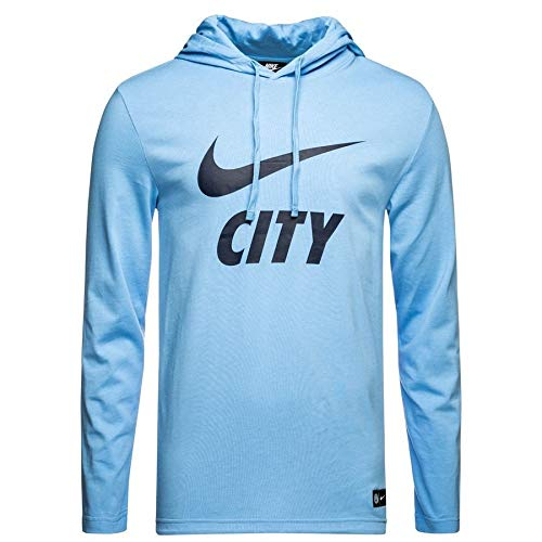 Nike 2018-2019 Man City Core Hooded Top (Blue)