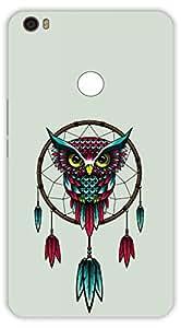 Crazy Beta COLOURFUL OWL DESIGN Printed Back Cover for Xiaomi MI Max