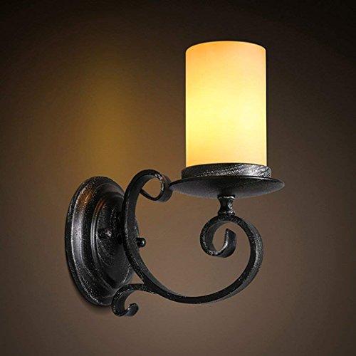 QAZ Wall Lamp light American Retro, Candle Light Corridor Chambre Salon applique murale Fer à repasser