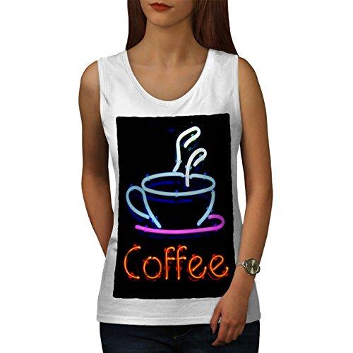 wellcoda Kaffee Neon Foto Essen Frau Tank Top Cafe Athletisches Sport-Shirt -