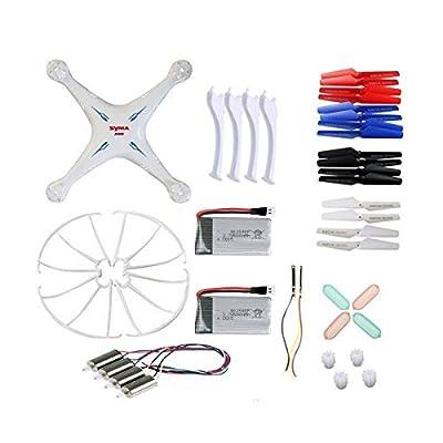 Coolplay® Original Syma X5SC X5SC-1 X5SW X5SW-1 Quadcopter Spare Parts Crash Pack Kit Replacement (White)