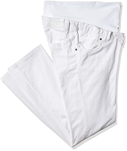 Love2Wait Damen Umstandshose Pants 011 Romy Weiß - Weiß