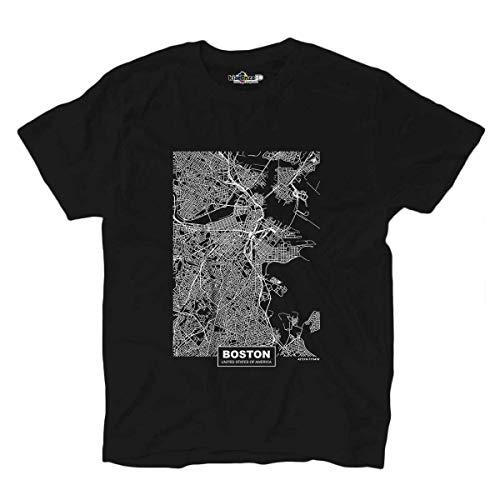 KiarenzaFD T-Shirt Stadtpläne Boston Vereinigte Staaten von Amerika Welt Viaggio