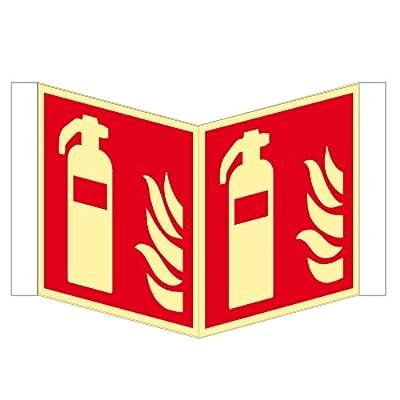Feuerlöscher - Winkelschild Kunstsoff nachleuchtend ISO 200 x 200 mm