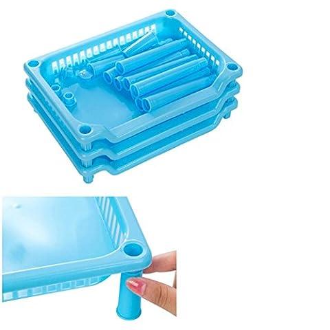 yanhoo 3Etagen Kunststoff Organizer Badezimmer Caddy Regal Küche Storage Rack Holder, Kinder, blau