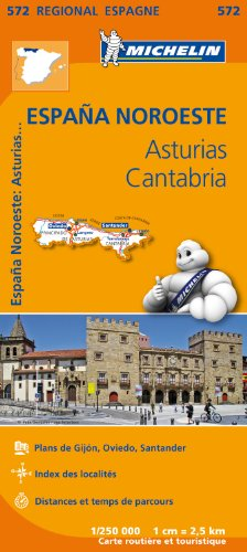 Carte Espagne Asturies Cantabrique  Michelin par Collectif MICHELIN