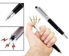 Idea Regalo - Penna scossa elettrica shock shocking da scherzo umoristico ripieno e catture