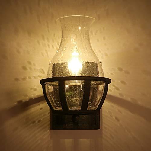 YANG Vintage Loft Wandleuchte Retro Kerze Glas Wandleuchte Abdeckung Western Restaurant Bar Eisen...