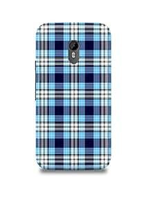 Moto G3 Cover,Moto G3 Case,Moto G3 Back Cover,Blue Checks Moto G3 Mobile Cover By The Shopmetro-11123