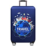 Luggage cover Housse de Valise élastique Double côté Ouverture Fermeture éclair...