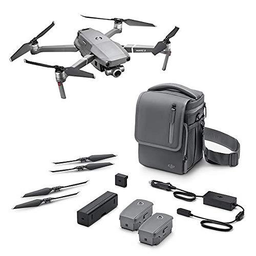 """DJI Mavic 2 Zoom + Fly More - Kit con Drone quadrocopter (Zoom ottico di 24-48 mm, videocamera, Sensore CMOS 12MP 1/2.3\"""") Colore Grigio"""