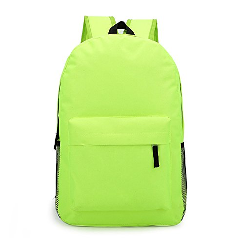 Anne, Borsa a zainetto donna nero Yellow Fluorescent Green