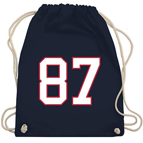American Football - Football New England 87 - Unisize - Navy Blau - WM110 - Turnbeutel & Gym Bag Die Bowl Mill