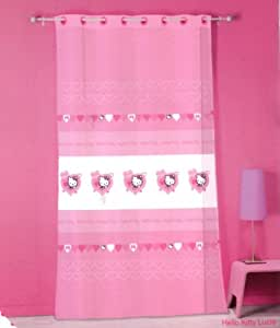 Voilage Hello Kitty 140 x 240 cm - LUCIE - Ready made sheer curtain - rideau